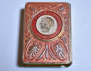 Vintage Collectible Matchbox Case Advertising-Olympiacos F.C Matchbox Holder