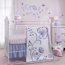 Lambs & Ivy 4 Piece Baby Nursery Crib Bedding Set Mackenzie with Bumper NEW