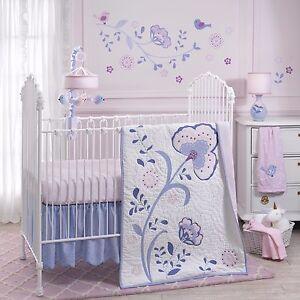 Lambs & Ivy 4 Piece Baby Nursery Crib Bedding Set Mackenzie with Bumper NEW