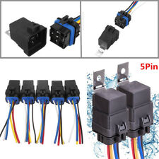 5x 5Pin 14AWG Automotive Relay Switch Harness Waterproof 30/40A 12VDC Wires