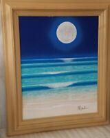 Dan Mackin,MoonShine Framed Original Oil Painting on Canvas Hand Signed/COA.