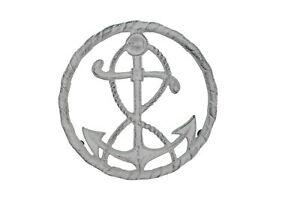 "Nautical Ships Anchor Cast Iron Kitchen Trivet 7.75"" Wide"