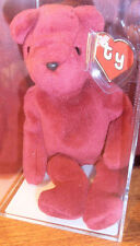 RARE MWMT MQ! Authenticated TY 2nd gen OLD FACE CRANBERRY TEDDY Beanie Baby