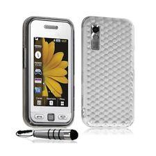 Housse coque gel diamant transparent pour Samsung Player One S5230 couleur blanc