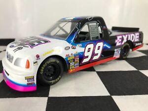 RARE w/2 AUTOGRAPHS! 1:24 Kurt Busch #99 Exide 2000 Ford F-Series Truck