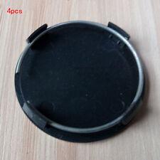60mm 4pcs Alloy Black Rim Car Cover Wheel Plain Set Center Caps Hub New Us