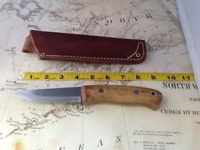 Wood Bear Knives/Norlander model/01 steel/stabelized Maple scales/leather