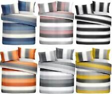 Stripe Grey,Ochre,Orange,Blush,Blue Duvet Cover Bedding Set Single,Double,King