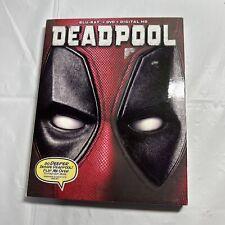 Deadpool (Blu-ray/DVD, 2016, 2-Disc Set)  Ryan Reynolds, T.J. Mille W/Slipcover