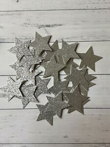 Star Confetti- Twinkle Little Star Silver StarGlitter Confetti Large baby shower