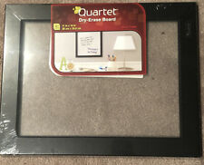 "11"" X 14"" Quartet Dry erase board, Sealed in package, Black Frame, Clear glass"
