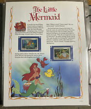 US Vintage Classic Disney Movie Collectors Stamp Panels The Little Mermaid 1990