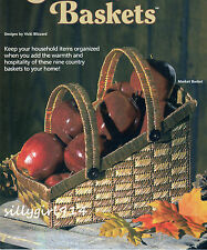 """COUNTRY FAIR BASKETS""~Plastic Canvas PATTERN BOOK ONLY~9 Designs~SEE PICS"