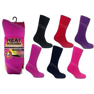 Ladies Womens 2.3 tog Winter Insulated Thermal Socks Warm UK 4-8 By Heat Machine