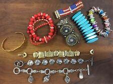 Lot of 9 women or teen fashion costume bracelets (Set 3)