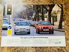 VW GOLF GTI VS VAUXHALL OPEL ASTRA GTE 1991 POSTER ADVERT A4 X 2 SIZE FILE D