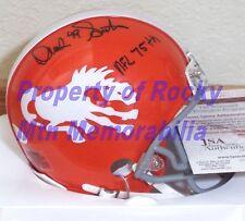 "Denver Broncos DENNIS SMITH Signed TB Logo Mini Helmet w/ ""NFL 75th"" JSA COA"