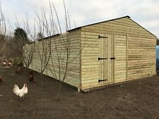 REDWOOD Heavy Duty Timber/wooden summerhouse shed/building - 18ft x 36ft