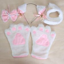 OKPOW Fancy Cat Cosplay Anime Convention Neko Costume Lolita Gothic Paw Ear Tail
