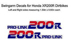 Swingarm Decals for Honda XR200r dirtbike - XR200 XR 200 200r