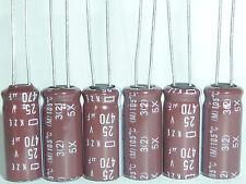 10pcs 470uF 25V 8x20mm NCC Nippon KZE Low ESR 25V470uF Motherboard Capacitor
