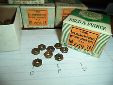 Nos Usa made Brass 10-24-Nc Machine Screw Nuts-144 qty-Reed & Prince