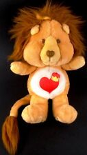 "Care Bear Cousins BRAVEHEART Brave Heart Lion 1984 Kenner 13"" Vintage Plush Toy"