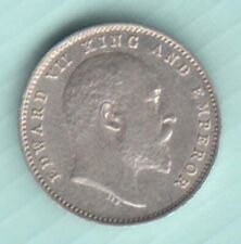 1903 British India King Edward VII Two Anna  UNC silver coin