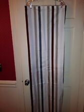Ikea Home Shower Curtain Stripes In Brown Gray Silver 100 Polyester 70x70 New