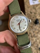 Vintage Zewoga Military Style Mens Watch Minerva Cal. 49 Swiss 31,6mm