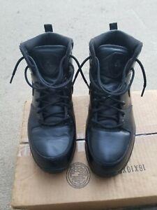 Nike 454350-003 ACG Manoa Leather Black/Black Mens Mid Boots Size 11.5 EUC!