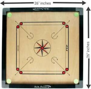 FULL SIZE 26 INCH  CARROM BOARD GAME WITH FREE COINS + STRIKER SET