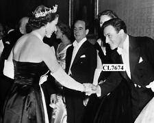 Gene Kelly Meets Queen Elizabeth at a Royal Film Performance Premiere in London