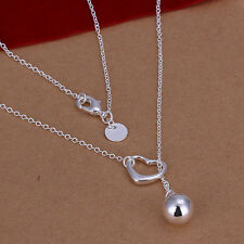 Collier Chaîne Pendentif charm Coeur perle argent 925 original top qualité