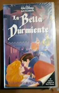 LA BELLA DURMIENTE Walt Disney - VHS Cinta Tape Español Original @ Impecable @