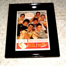 STAN MUSIAL CARDINALS HALL OF FAMER AUTOGRAPHED AD W/ TED WILLIAMS FRAMED