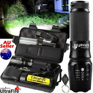 Ultrafire X800 650000LM Flashlight Zoom T6 LED Tactical Military Torch Headlamp