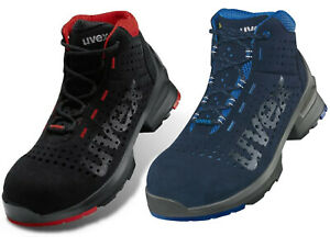 uvex Safety Boots Perforated Upper 100% Metal-Free Airport Safe ESD Rated S1SRC