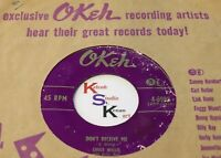 CHUCK WILLIS 45 Don't Deceive Me / I've Been Treated Wrong OKEH 6985 Funk Soul