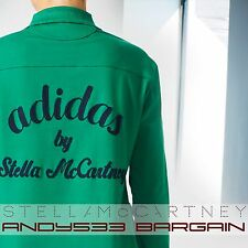$180 adidas Stella McCartney Womens Studio Rugby Shirt Polo Organic Cotton Top S
