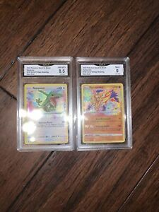 2020 Pokemon Zamazenta + Rayquaza  Vivid Voltage Amazing Rare Holo