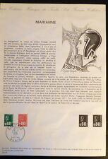 FRANCE MUSEE POSTAL FDC 25-74   MARIANNE   0,60+0,80F   PARIS   1974