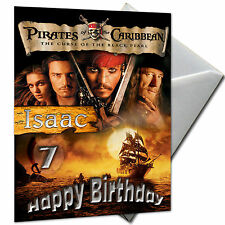 PIRATES OF THE CARIBBEAN - PERSONALISED  Birthday Card Large A5 + Envelope