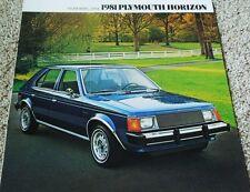 1981 Plymouth Horizon & Horizon Miser Large Dealer Sales Brochure
