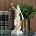 MARBLE GREEK GODDESS THEMIS SCALES OF JUSTICE SCULPTURE BLIND STATUE Lawyer Gift
