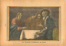 Bernardo Strozzi Les disciples d'Emmaüs musée Grenoble France 1936 ILLUSTRATION