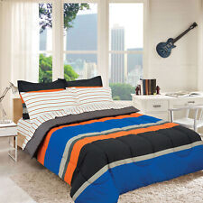 Rugby Stripe Orange Reversible Bed in a Bag