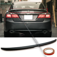 Fit 13-17 Accord 4DR Sit Flush OE Style Primer Ready Rear Trunk Lip Wing Spoiler