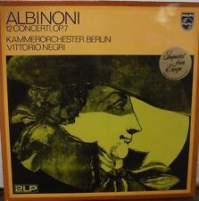 Albinoni 12 concerto op.7 Kammerorchester Berlin Vittorio Negri 33rPM  020517LLE