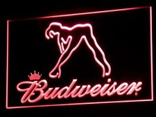 "Budweiser Red 12"" x 8"" Led Sign Bar Pub Mancave"